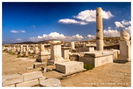 The island of Delos - one of the most important, historical and archaeological sites in Greece.